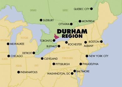 Durham Region in Southern Ontario