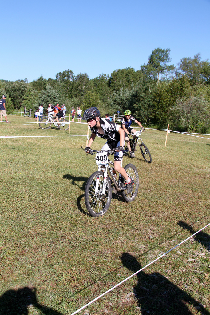 Keegan Mulcahy, final sprint to top ten in Minimee at Sudbury Canada Cup