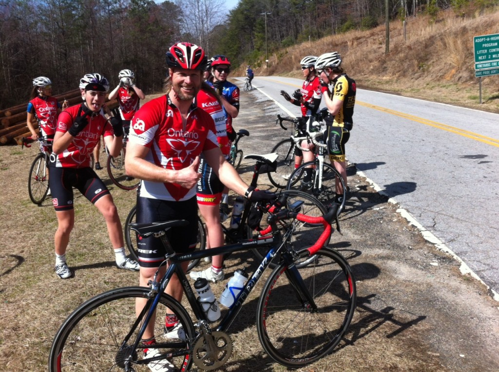First warm-up ride of the camp. Getting acquainted with the rolling terrain of South Carolina!